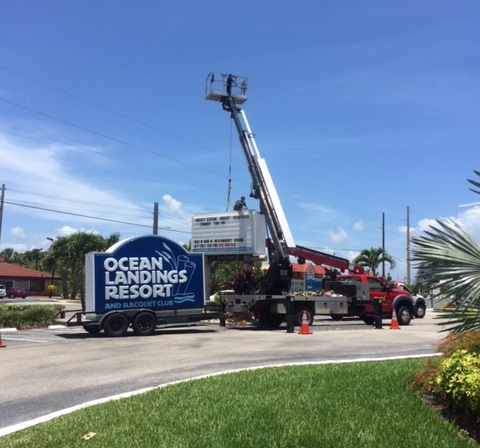 The Signage Change For Ocean Landings Resort And Racquet Club Is Underway New Sign Should Be In Place By End Of June Times Are Changing Cocoa