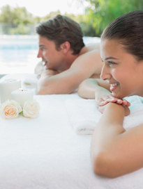 Photo of people enjoying a spa