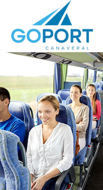 Go Port logo with people on a bus