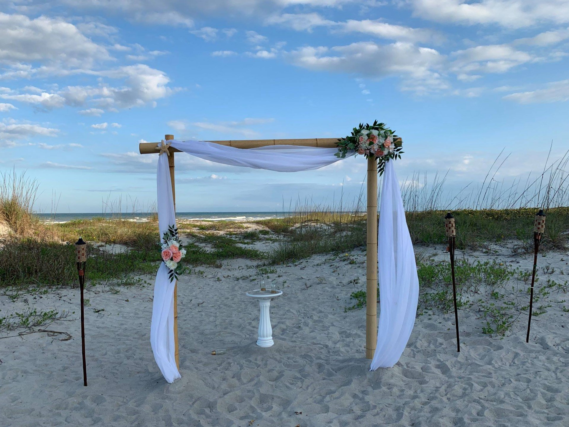 Photo of a wedding ceremony space