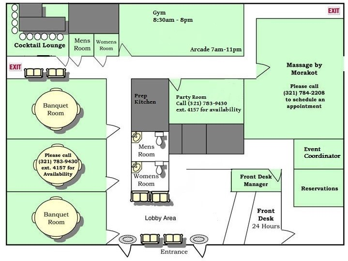 Banquet Hall floor plan